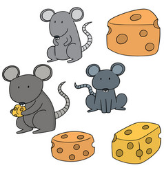 set of mouse vector image