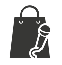 shopping bag with sound icon vector image