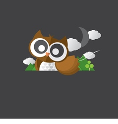 Single Cute Owl Portrait vector image