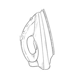 sketch hand drawn of steam iron vector image