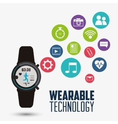 smart watch health application wearable technology vector image