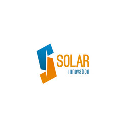 solar innovation badge vector image