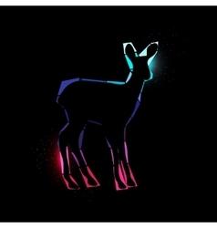 Space deer vector image