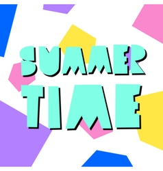Summer Poster Design vector image