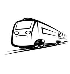 Train symbol vector image