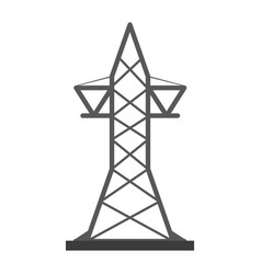 transmission tower icon image vector image