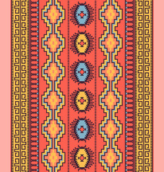 tribal seamless pattern geometric design vector image