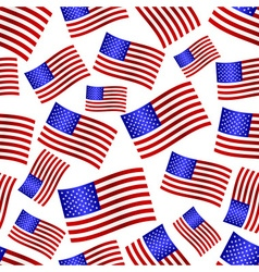 usa national flag celebration seamless pattern vector image