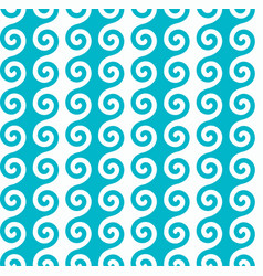 vertical blue spiral wave pattern vector image