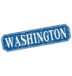 Washington blue square grunge retro style sign vector