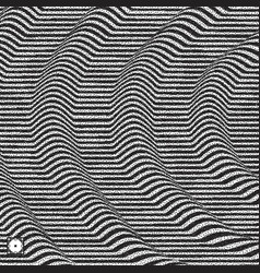 Wavy background black and white grainy dotwork vector