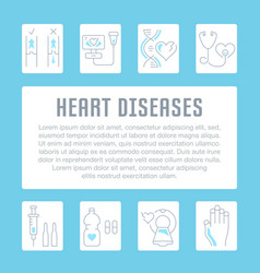 Website banner and landing page heart diseases vector