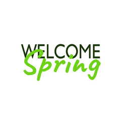 welcome spring inscription lettering card vector image