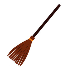 Witch broom on white background 2 vector