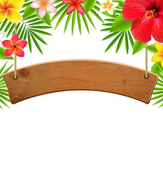 Wood Sign Banner vector image
