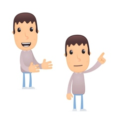 funny cartoon guy vector image vector image