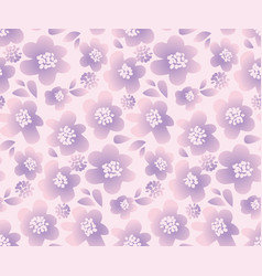 lilac color summer floral in retro 60s style vector image vector image