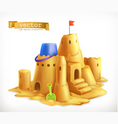 sand play sandcastle 3d icon vector image vector image