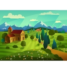 Summer Landscape Background vector image vector image