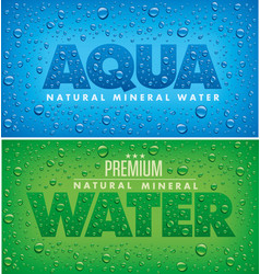 aqua mineral water background with drops vector image