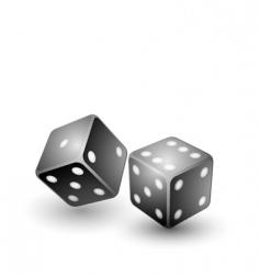 black dices vector image vector image