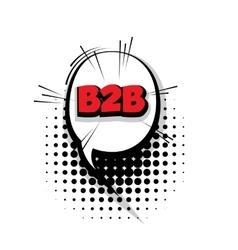Comic b2bt arrr sound effects pop art vector image vector image