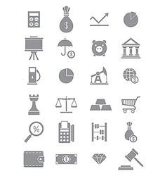 Gray economy icons set vector image vector image