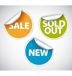 retail sale stickers vector image vector image