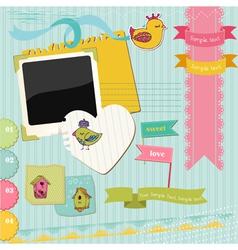 Scrapbook Design Elements vector image vector image