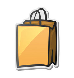 shopping bag icon sticker vector image vector image