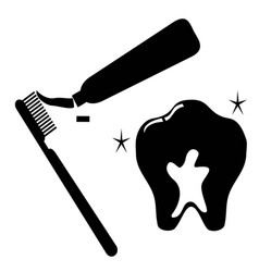 clean tooth icon set vector image vector image