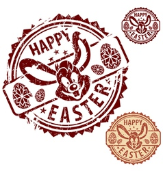 grunge easter stamps vector image vector image