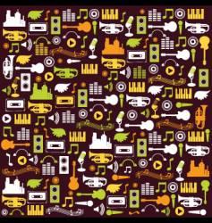 music elements wallpaper vector image