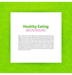 Paper Template over Healthy Eating Line Art vector image vector image