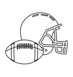american football helmet ball sport equipment vector image vector image