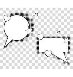 Comic speech bubbles with halftone shadows vector image vector image