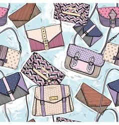 Cute seamless fashion pattern vector image