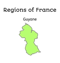 France administrative map of French Guiana vector image