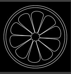 Lemon slice the white path icon vector