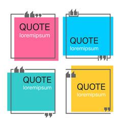 Quote square template vector