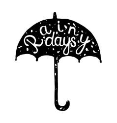 Typographic umbrella label vector
