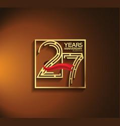 27 years anniversary logotype golden color vector