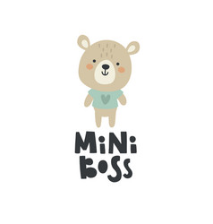 A cute teddy bear vector