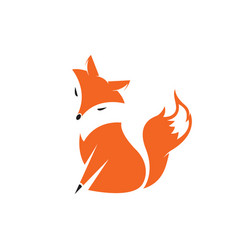 a fox design on white background wild animals vector image