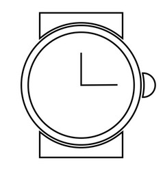 abstract clock object vector image