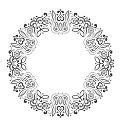 abstract ornate mandala decorative frame vector image