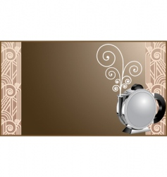 art deco coffee and tea vector image