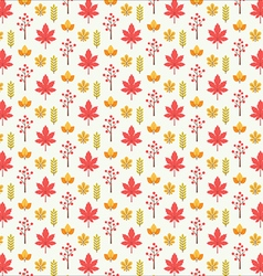 Autumn leaf pattern texture background vector image
