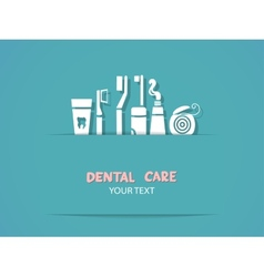 Background with dental care symbols vector