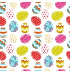 Beautiful easter egg seamless pattern background vector